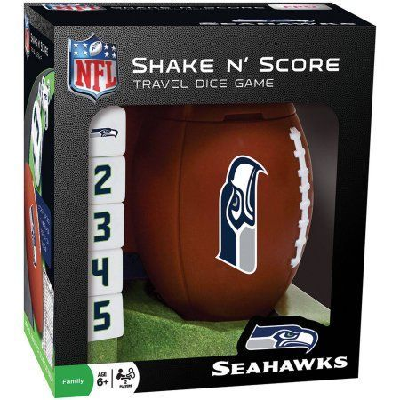 MasterPieces NFL Seattle Seahawks Shake n' Score Dice Game, Multicolor