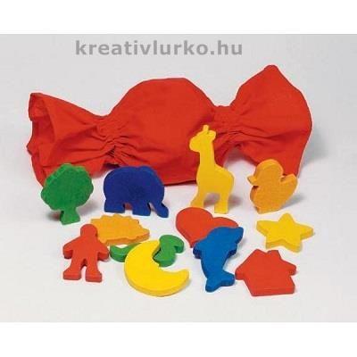 Tapintómemória játék formákkal