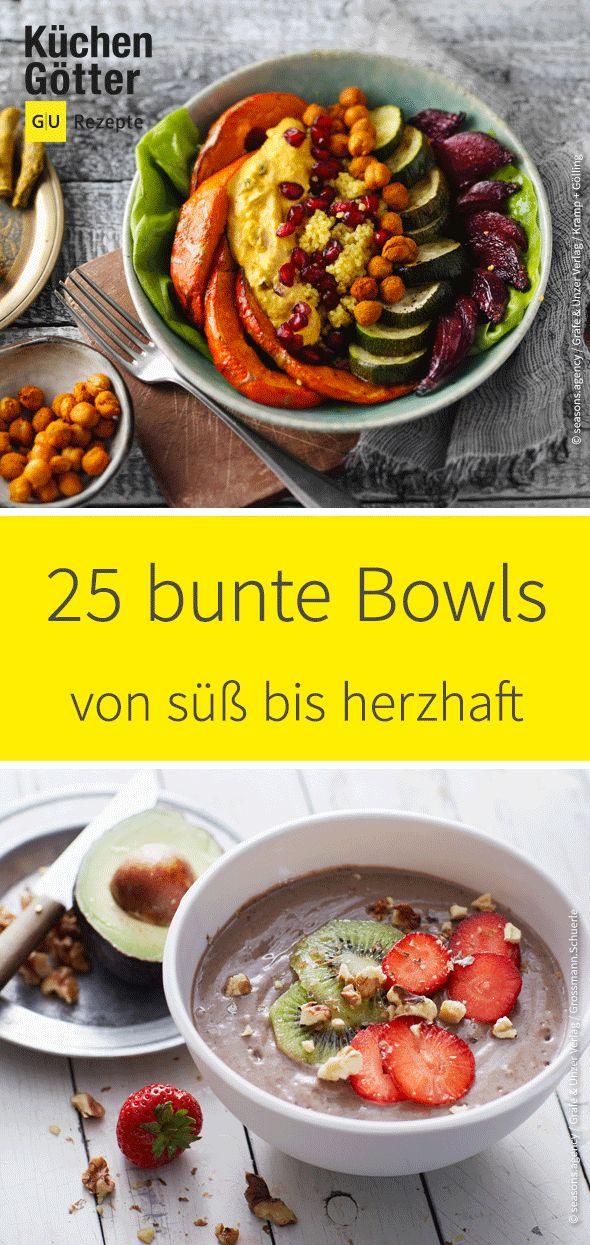 Ob als herzhafte Mahlzeit oder süss zum Frühstück – wir haben die bes …   – Bowls – von süß bis herzhaft