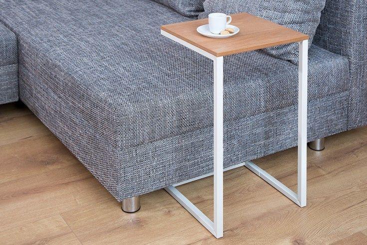 Design Beistelltisch SIMPLY CLEVER 60cm Eiche weiß