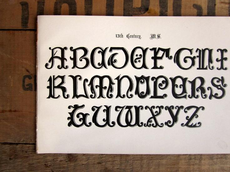 13th Century alphabet | Fonts | Pinterest