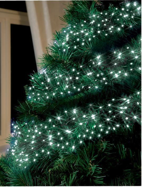 White LED Cluster Chaser Christmas Tree Lights , 288 Bulbs Xmas Decoration