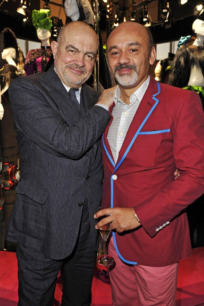 Two of my fav men - Christian Lacroix and Christian Louboutin