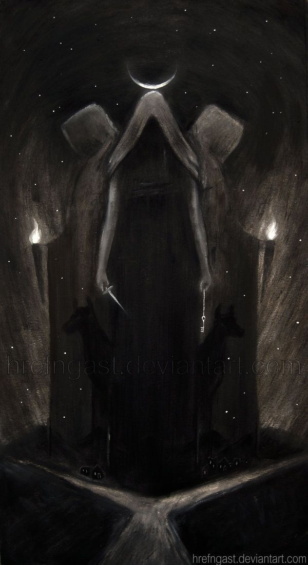 Hecate - The Greek goddess Hecate reminds us of the importance of change, helping us to release the past, especially those things that are hindering our growth, and to accept change and transitions. She sometimes asks us to let go of what is familiar, safe, and secure and to travel to the scary places of the soul.