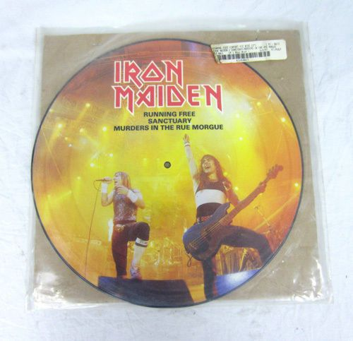 Iron Maiden Running Free Picture Disc Vinyl Record Sanctuary Murders Rue Morgue
