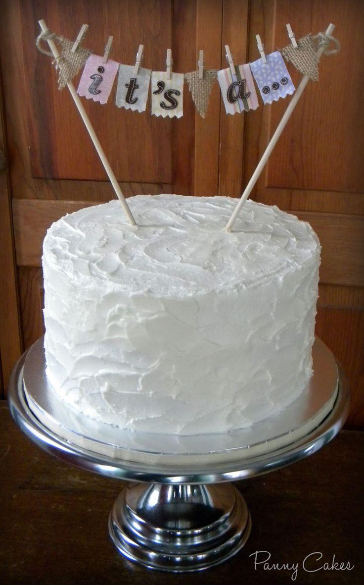 Rustic Style Gender Reveal Cake