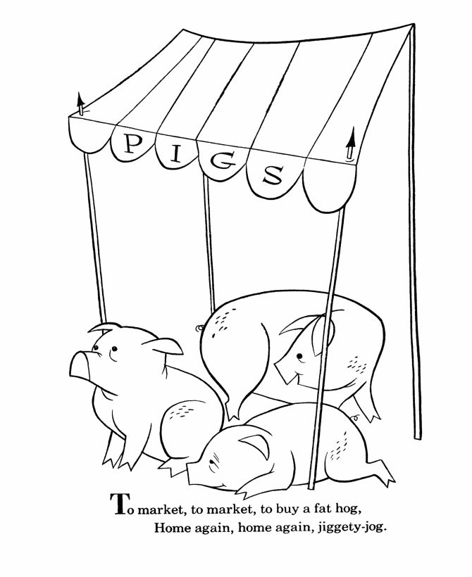 107 best images about 3 little pigs preschool on pinterest for Nursery rhyme coloring pages preschool