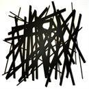 The Sticks in Powder Coated Aluminum Wall Art Sculpture