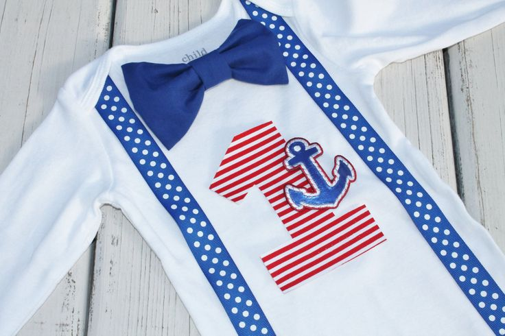 Sailor Birthday Outfit First Birthday Outfit by CrestlineCreatives, $22.99