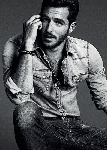 Denim hottie.  Not two words you hear together often, but somehow, he makes it work.