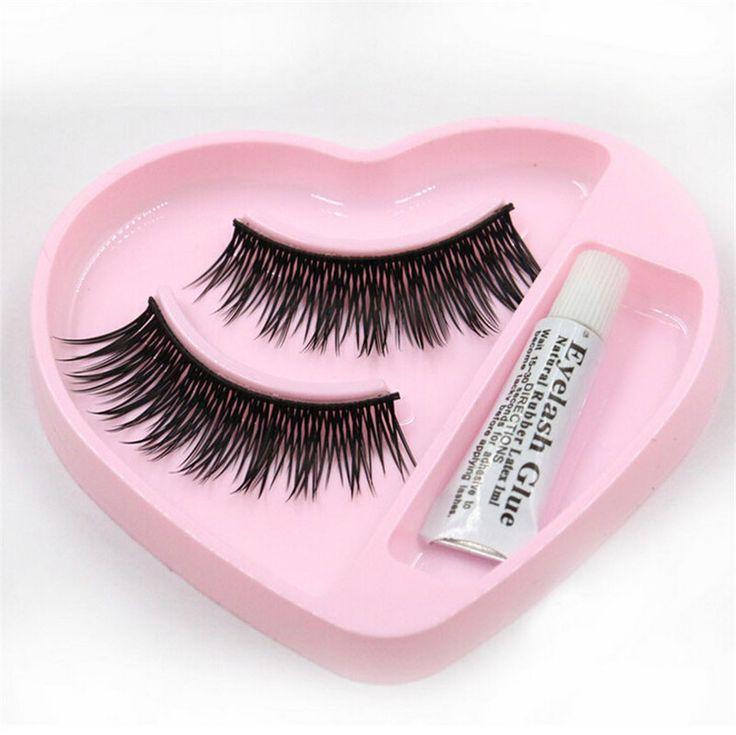 1 pair Natural Long Thick False Eyelashes Charming Eyelashes Make Up Wimpern pestanas postizas ciglia finte Faux cils  OT21