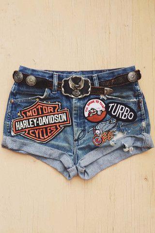 Vintage Renewed Beat Up 'N Patched Shorts – BACKBITE