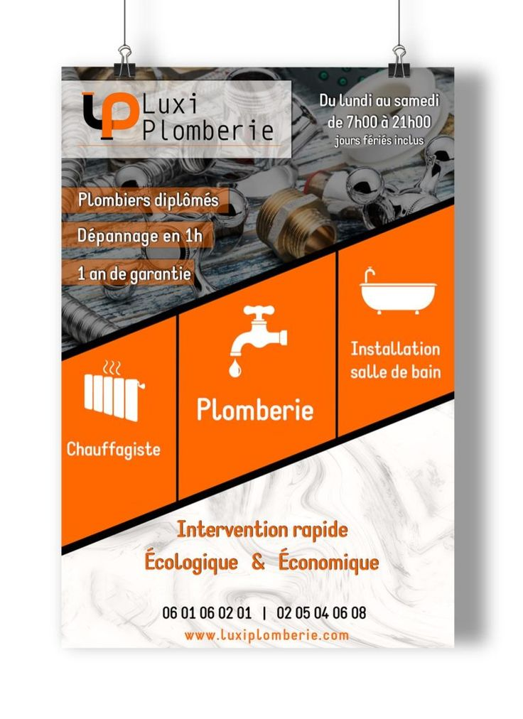 Portfolio Flyer Et Brochures Graphiste Webdesigner Nantes Lovinsky Lovinsky Graphiste Webdesigner Flyer P Plombier Modele De Cv Professionnel Brochure
