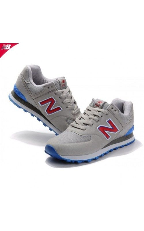 Cheap New Balance 574 Sonic Men Grey Red Blue