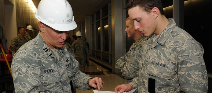 Civil engineer Its the job of Air Force civil engineers to ensure the Air Forces structures