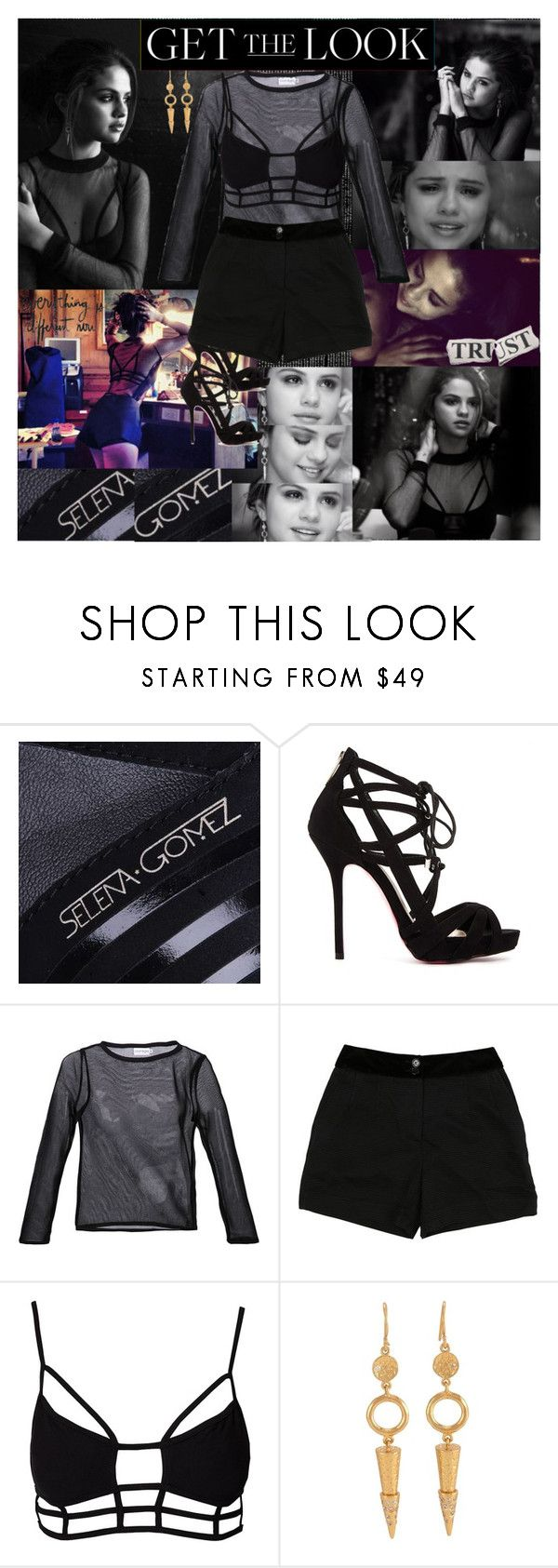 """""""Selena Gomez~The Heart Wants What It Wants Music Video"""" by tvshowobsessed ❤ liked on Polyvore featuring Justin Bieber, Carvela, Courrèges, D&G, OneTeaspoon and Melinda Maria"""
