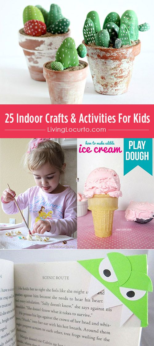 25 Indoor Crafts & Activities For Kids. Love these ideas!