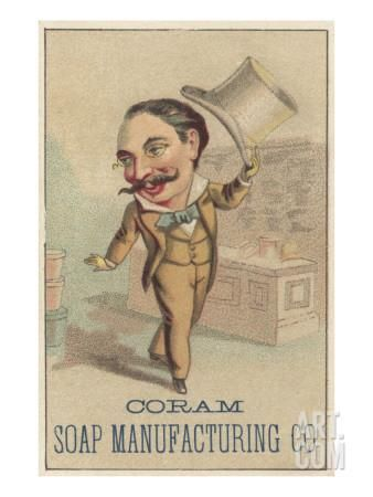 Advertisement for Coram Soap Manufacturing Co, C.1880 Giclee Print by American School at Art.com