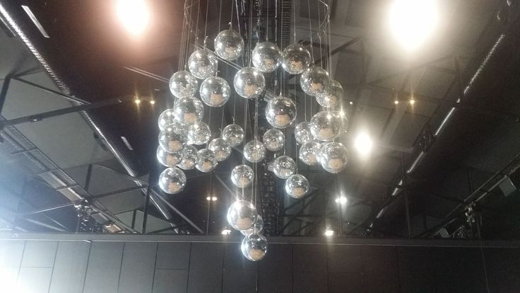 Mirror ball ceiling installation