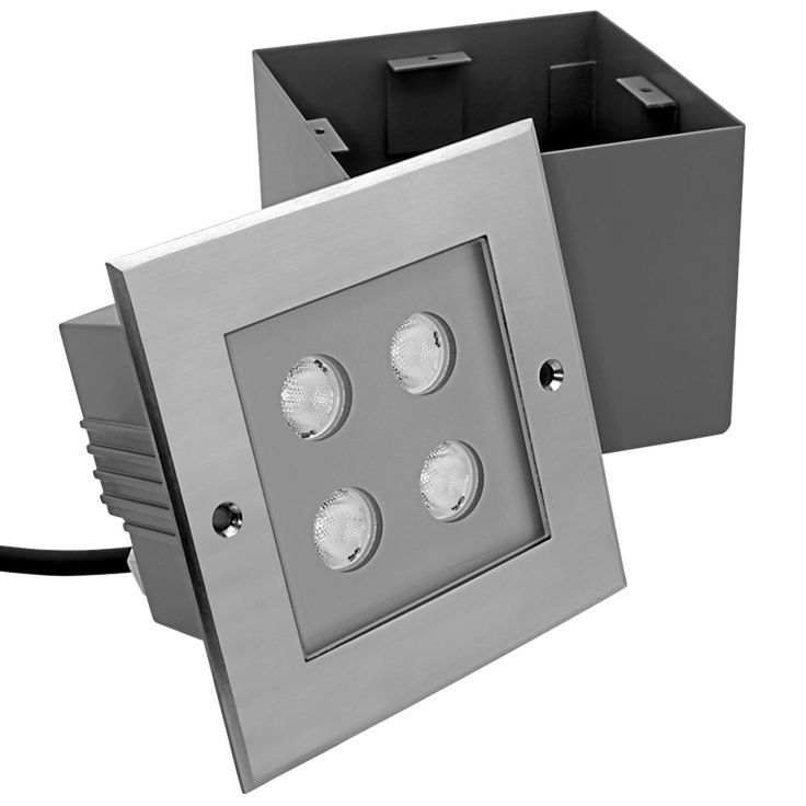Inground square 4 mono https www lightingarena com products · outdoor led lightingsquaresrompers