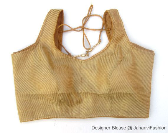 Readymade Saree Blouse copper lining color in chanderi, embellished Sari blouse, All Sizes, Sari Blouse, Saree Top for women by JahanviFashionShop on Etsy