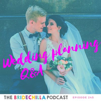 It's the new year which means that the Bridechilla Podcast is back with wedding planning Q&A Thursday, to solve the unsolvable and hopefully guide Bridechillas in the direction of a stress free wedding! Today, Bridechilla Kate updates us on her pre-election engagement party…were there dramas? Did it go smoothly? Did she put up a sign telling everyone to calm the hell down? Bridechilla Meg is the definition of cool… they've locked in all of the details without a hitch but her one big probl...