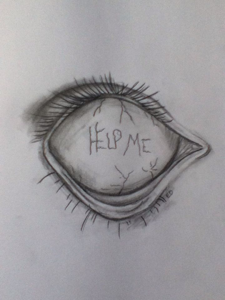 Help me... I saw this and had to draw it myself.