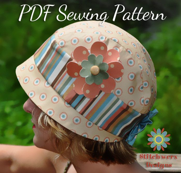 Vintage Cloche Style Hat Sewing Pattern - PDF Sewing Pattern S106- Child to Adult Size Hat Tutorial. $5.50, via Etsy.