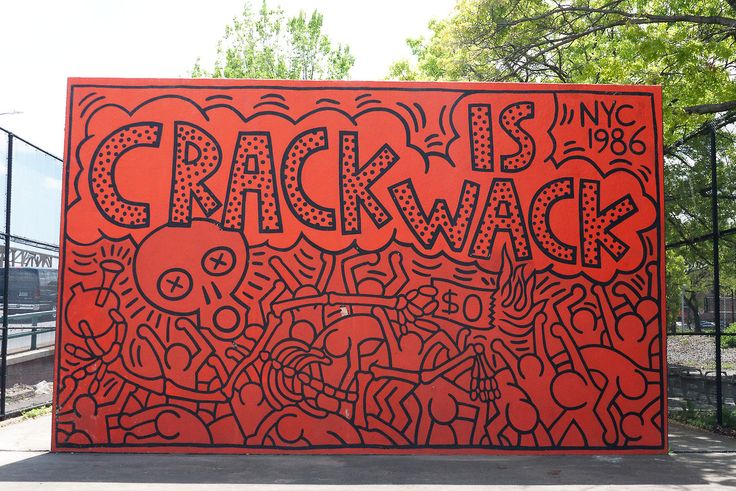 17 best images about keith haring on pinterest freedom for Crack is wack keith haring mural