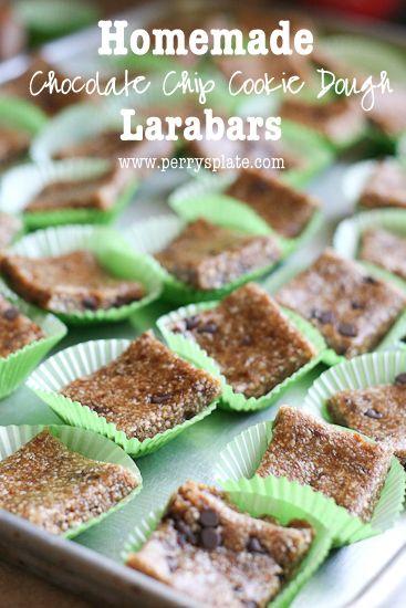 Homemade Chocolate Chip Cookie Dough Larabars - www.PerrysPlate.com