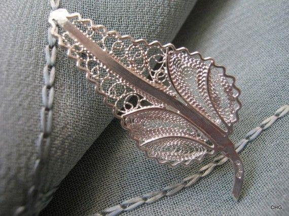 Broszka srebrna liść Malta upominek rękodzieło