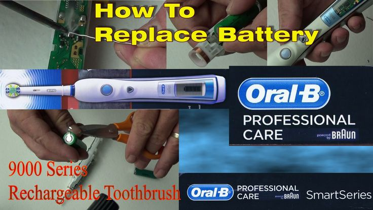 Oral-B Battery Replacement on Triumph 9000/5000 Professional Care Braun ...
