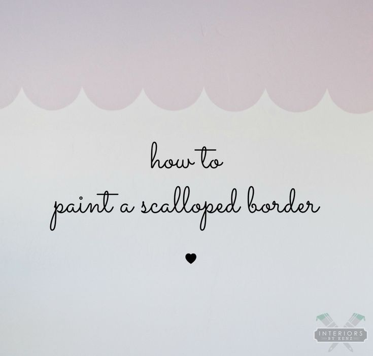 How-to-paint-a-scallop-wall-border