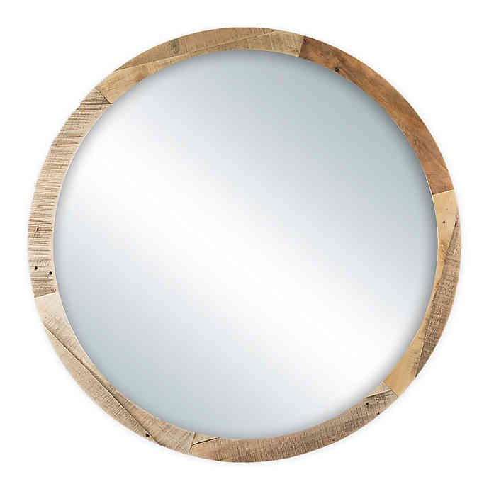 Bee Willow Home Tethered 30 Inch Diameter Circle Wall Mirror In