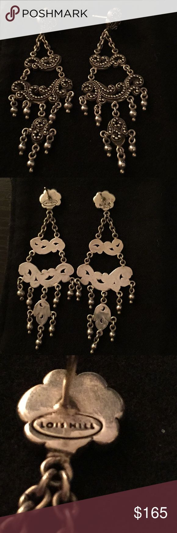 Lois Hill Tiered Drop Sterling Silver Earrings These Lois Hill sterling silver earrings are so beautiful! Almost three inches long, they make a statement! Lois Hill Jewelry Earrings