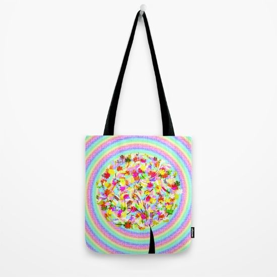 A colorful tote available in three different sizes. @society6
