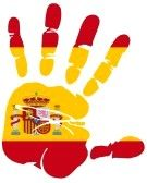 Hand Print Of Spain Flag Colors Royalty Free Cliparts, Vectors, And Stock Illustration. Image 13059750.