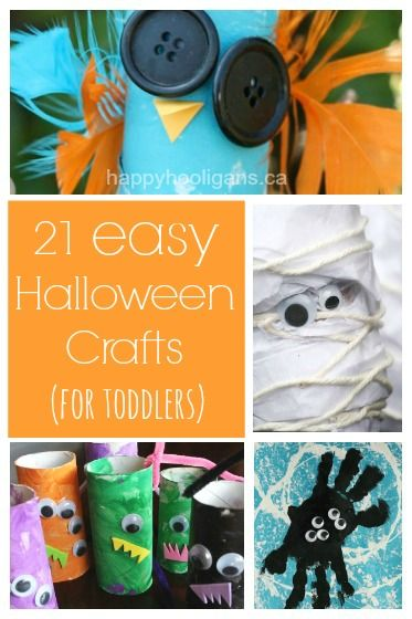 21 Easy Halloween Crafts Your Toddler Will Love - easy, fun, inexpensive, cute! - Happy Hooligans