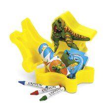 Dinosaur Party Shaped Plastic Dinosaur Filled Stationery Sets (6 ct)