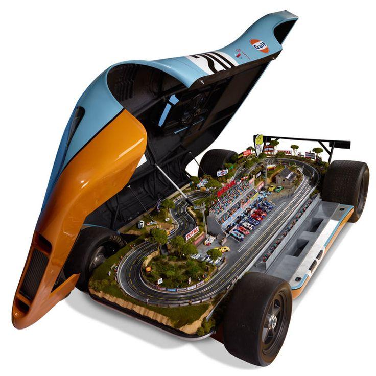 Lifesize Porsche 917 Le Mans Raceway Slot Car Track...big boy toy