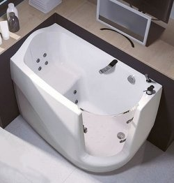 1000 images about walk in bathtubs on pinterest massage for Sit down shower tub