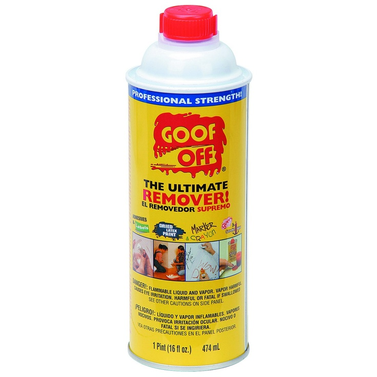 how to use goof off to remove paint