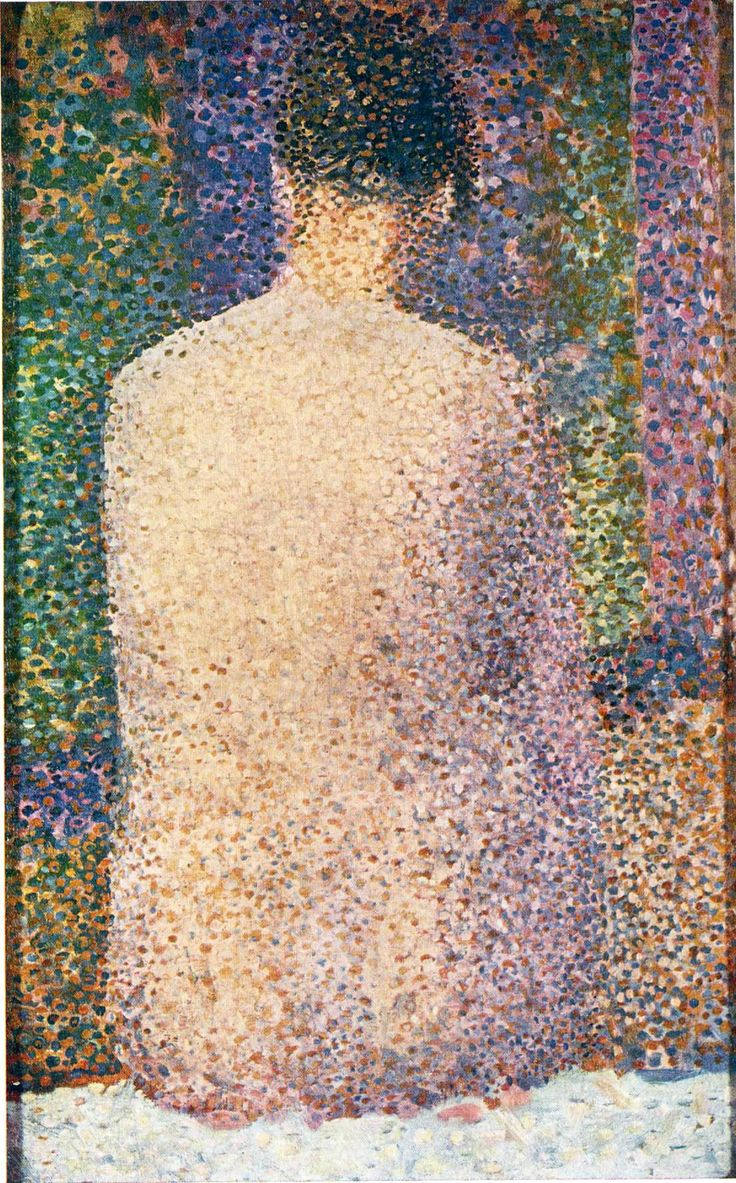 best images about paintings impressionists model from the back georges seurat