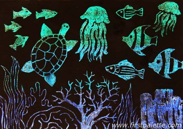 under water sea craft | Create lots of interesting pictures using scratch art. You can make ...