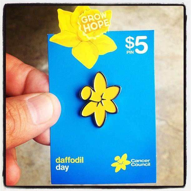 Daffodil day next week. Make sure you get one! http://www.daffodilday.com.au