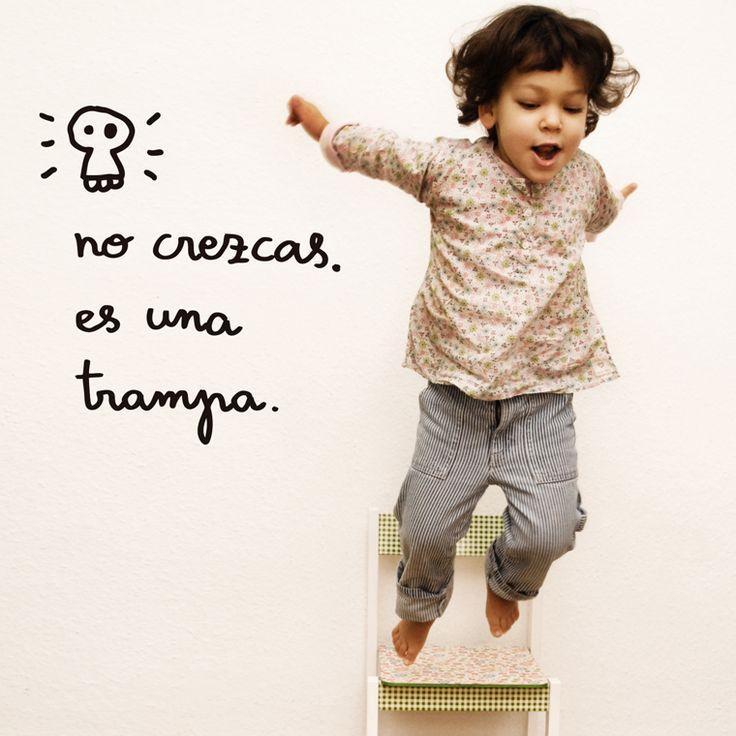 Vinilo Chispum No crezcas es una trampa by Javirroyo