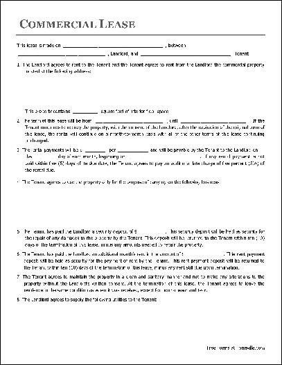 Free Commercial Lease Agreement (Organization to Organization ... - commercial lease agreement sample