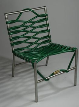 Cool Repurposed Furniture - OMG, a garden hose!!!! how cool is that! :)