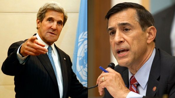 Darrell Issa's Benghazi Stunt Blows Up In His Face as Kerry Won't Appear at Hearing. http://www.politicususa.com/2014/05/13/darrell-issas-benghazi-stunt-blows-face-kerry-hearing.html DB!