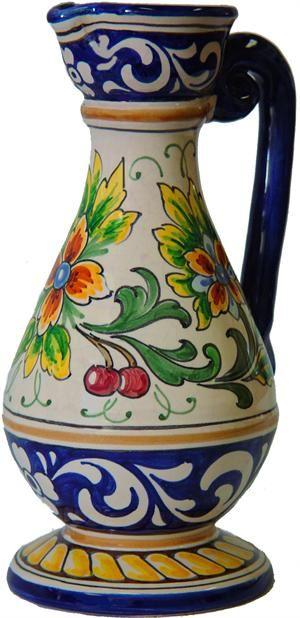 Hand painted ceramic garden planter from Talavera de la Reina, Spain